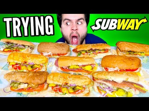 TRYING SUBWAY'S WHOLE MENU! - Subway Sandwich Restaurant Taste Test!