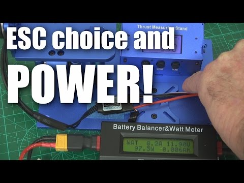 Does ESC choice affect motor power?