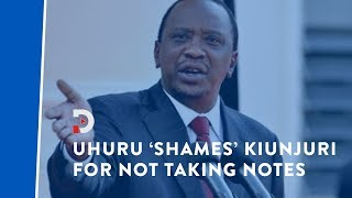 president-kenyatta-shames-cs-kiunjuri-for-not-taking-notes-on-kenyans-grievances-in-namibia