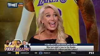 Sarah Kustok  Was last night's loss to the Hawks rock bottom for the Lakers   First Things First