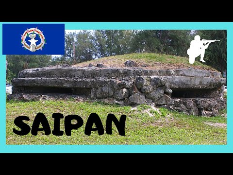 A WW2 Japanese pillbox in Saipan, Northern Mariana Islands (Pacific Ocean)