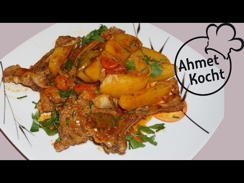 Lammkotelett mit Kartoffeln | AhmetKocht | kochen | Advent Special