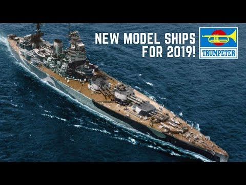 Trumpeter Nuremberg Toy Fair New 1/350 Ship Model Kits for 2019