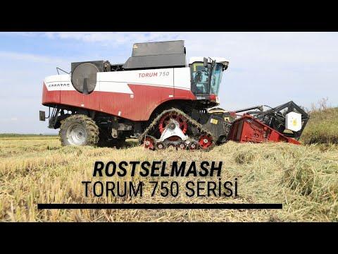 Rostselmash'ın çeltik hasadı için tasarlanan Torum 750 serisi inceleme