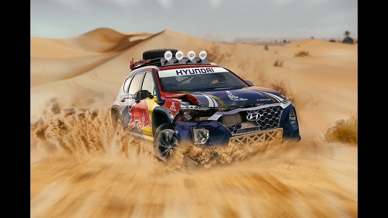 2019 dakar rally hyundai santa fe art timelapse youtube. Black Bedroom Furniture Sets. Home Design Ideas
