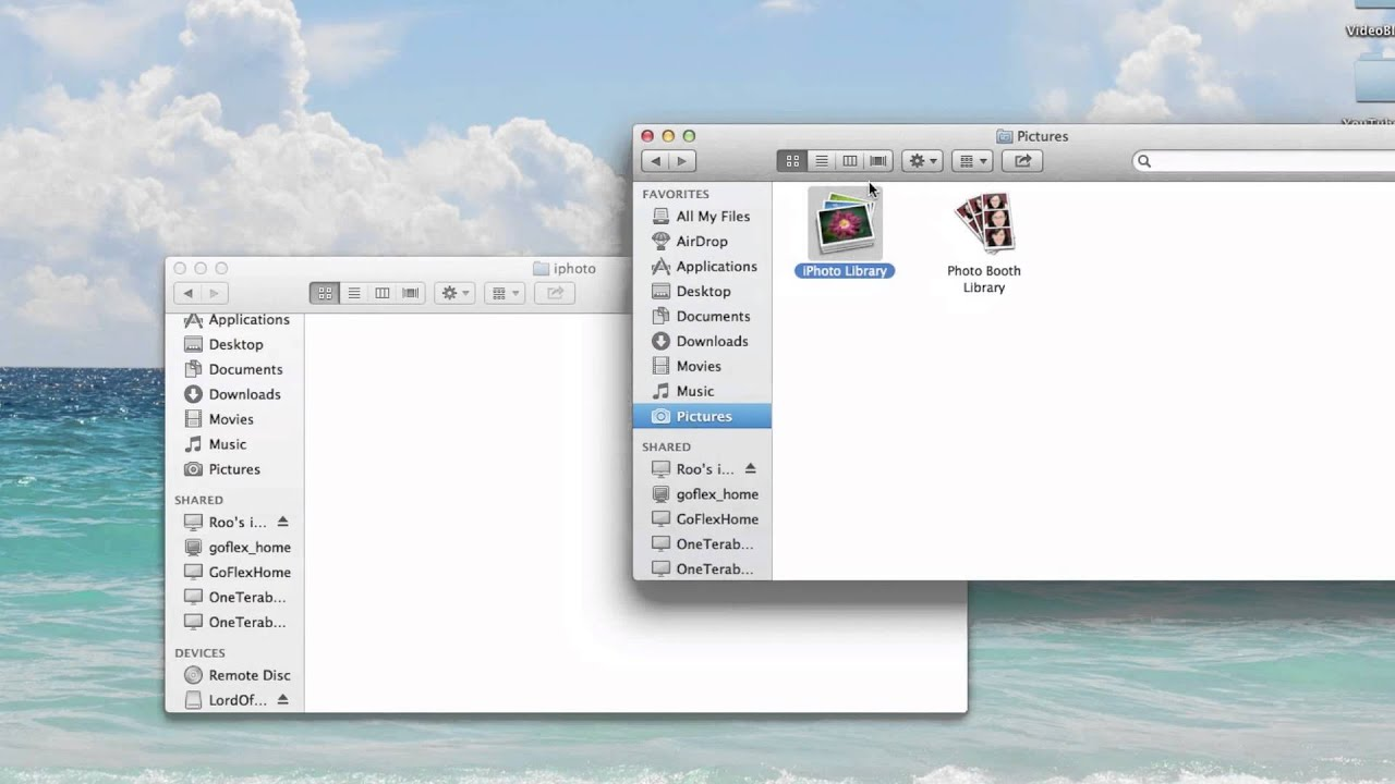 Export photos to how iphoto from