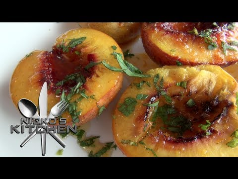 GRILLED NECTARINES with SYRUP - Nicko's Kitchen