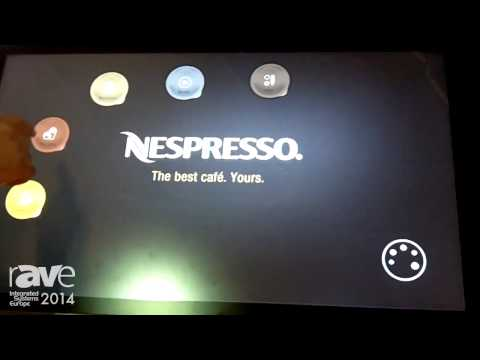 ISE 2014: UNEDGED Demos Nespresso App on ARENA Multitouch with Dedicated Back Office