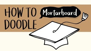How to Draw a Graduation Hat, Mortarboard, and a Scroll (Easy Step by Step Drawing Tutorial)