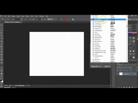 Como Instalar Fuentes en Photoshop CS6