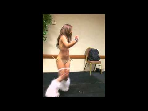 Khyanna Song go go dancing in White Boots