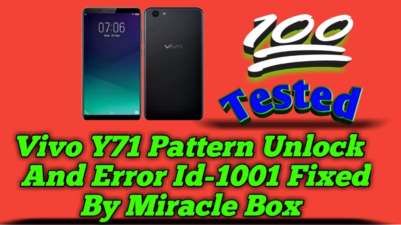 VIVO Y71, Y71i , 1724 Pattern unlock FRP GOOGLE unlock by miracle box fix  error id 1001