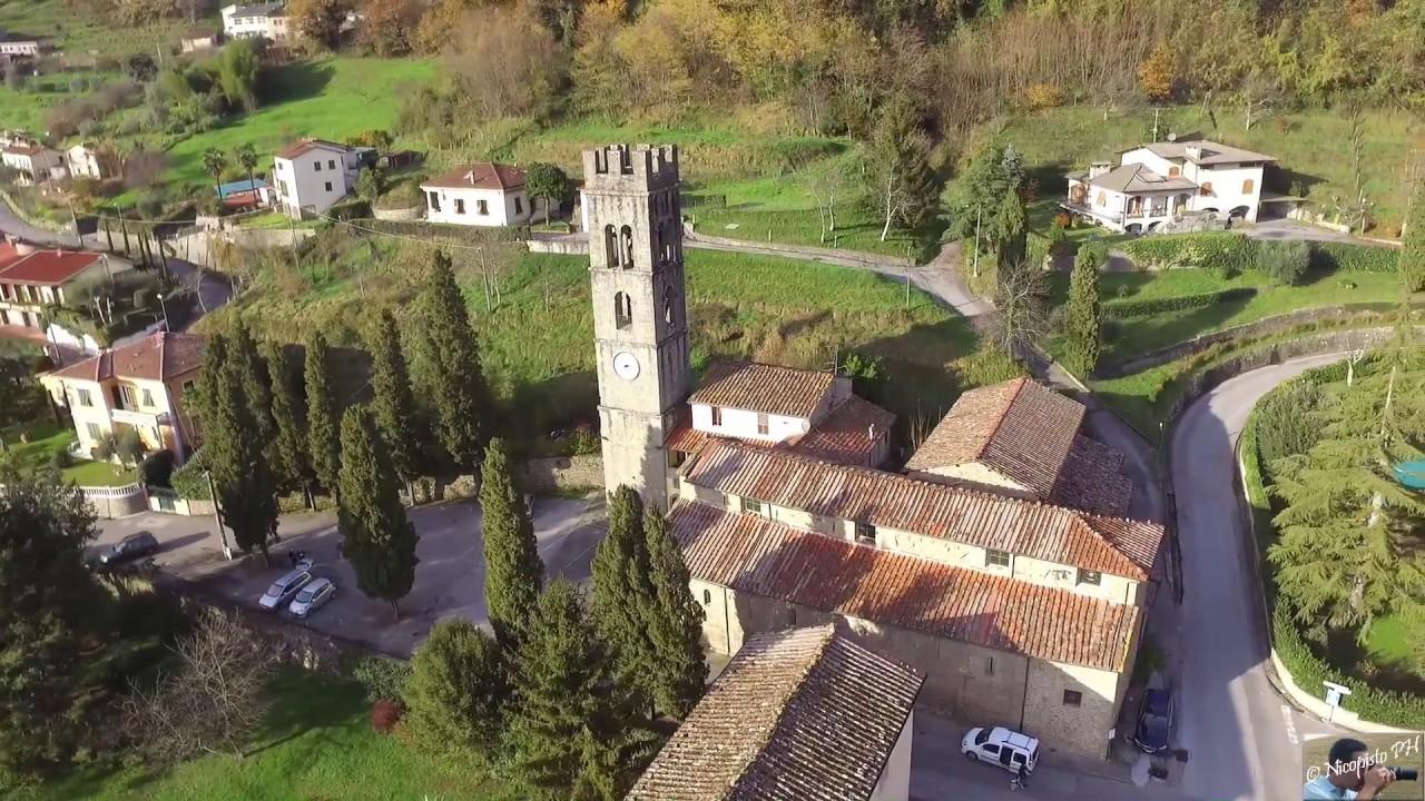 Vista di Bagni di Lucca con drone dji - YouTube