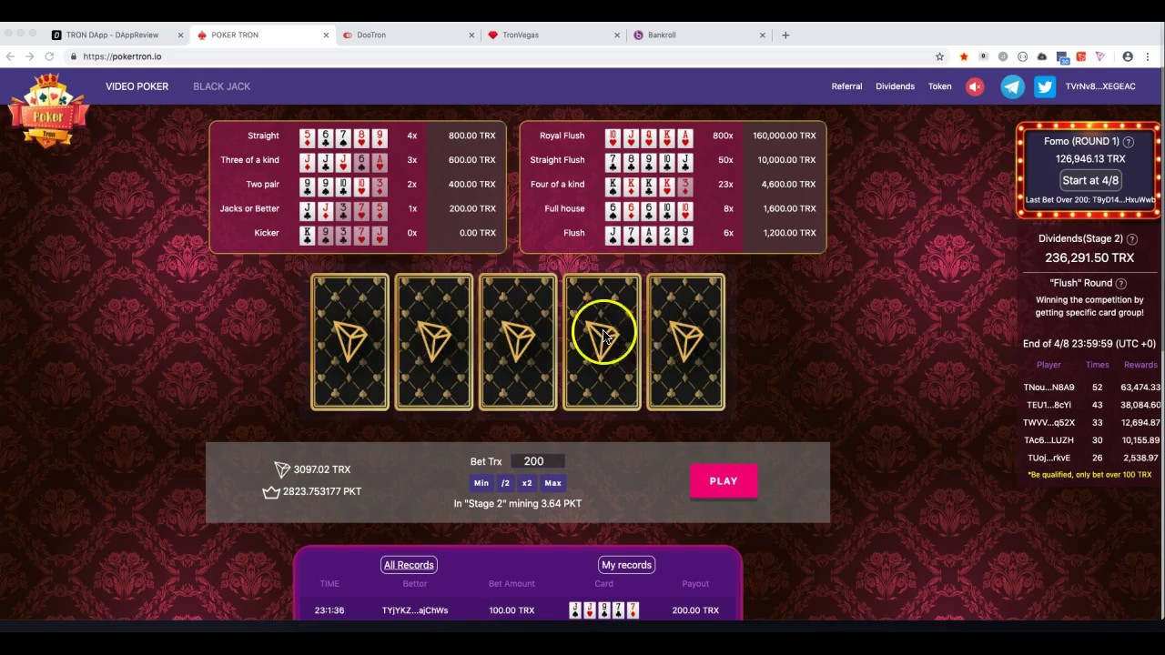 Poker Tron Stage 1 Payout | Amazing Dividends | Dapp Updates