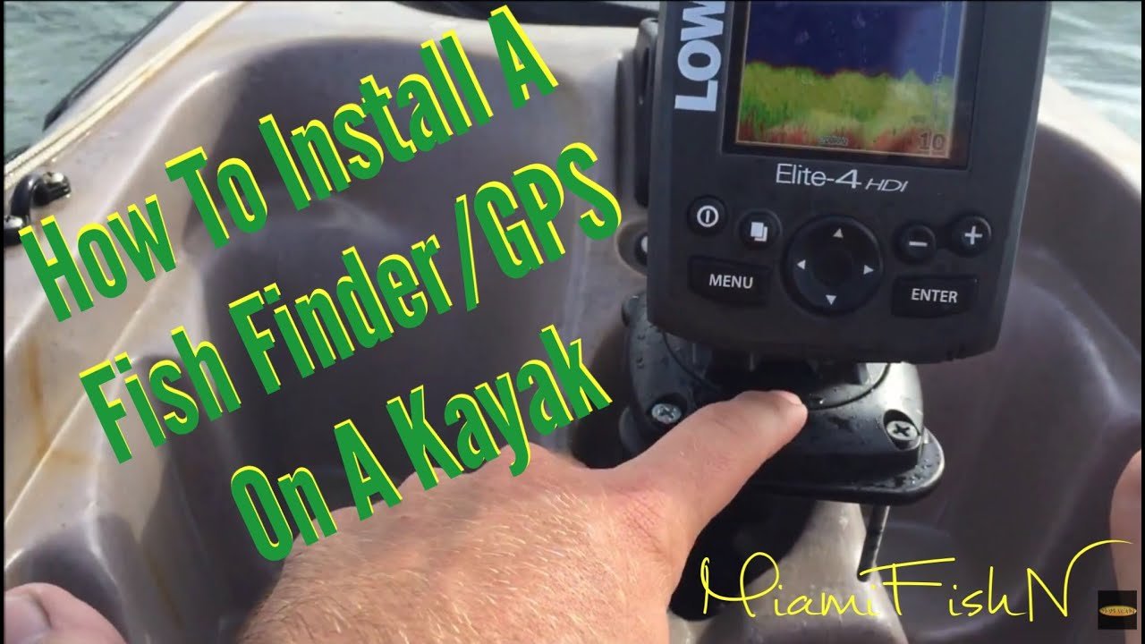 How to install a fish finder gps on a kayak youtube for Kayak fish finder install