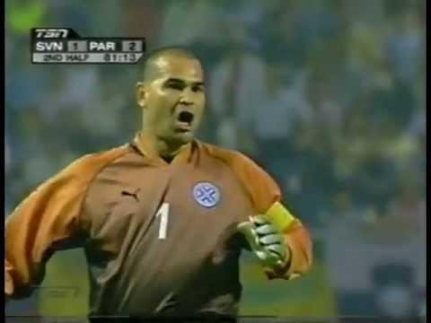 Chilavert - Free kick vs Slovenia World Cup 2002