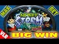 Money Storm - MAX BET BIG WIN + RETRIGGERS - Slot Machiine Bonus