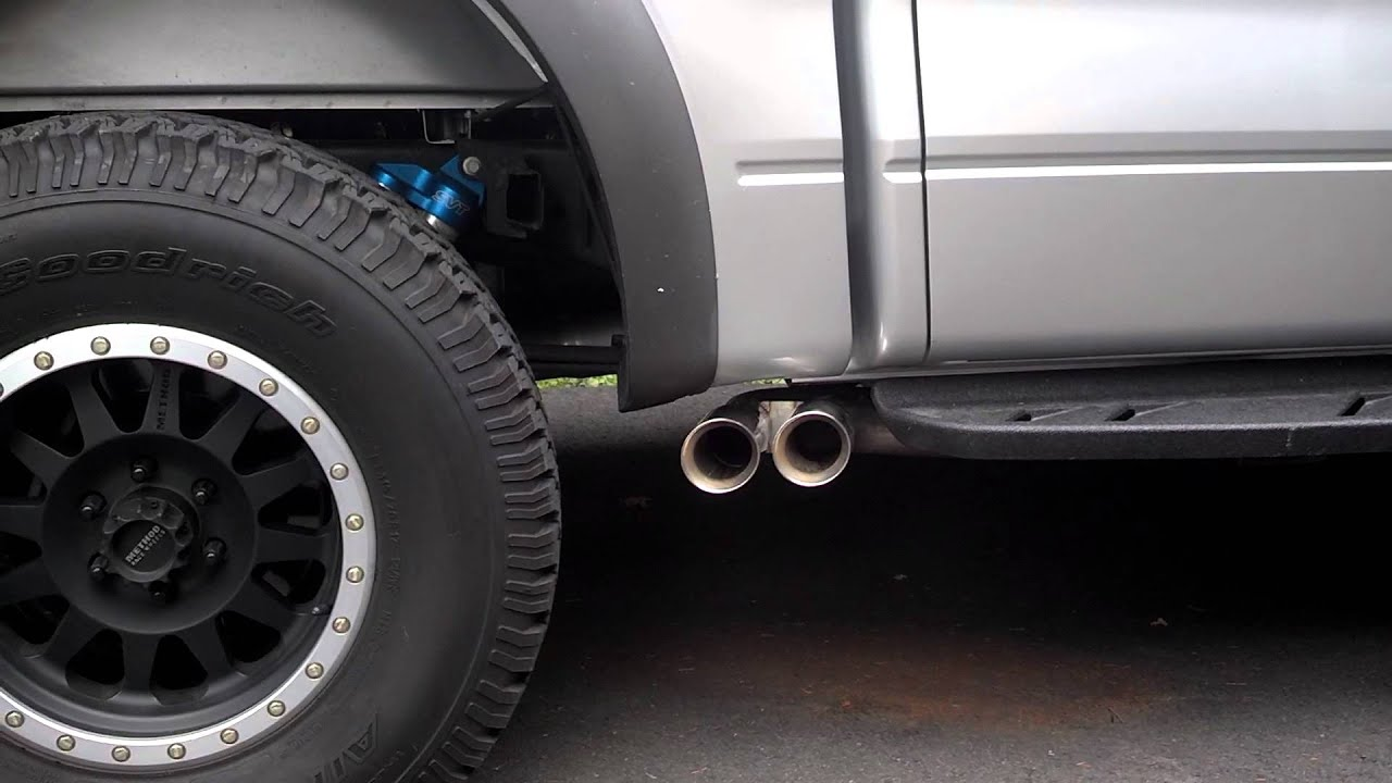 Raptor sw full exhaust warm start and rev