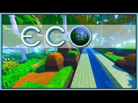 BUILDING AN AQUEDUCT - Water Flow - ECO Gameplay [Let's Play Eco Game / Eco Gameplay]