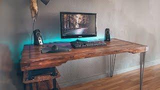 building desk setup