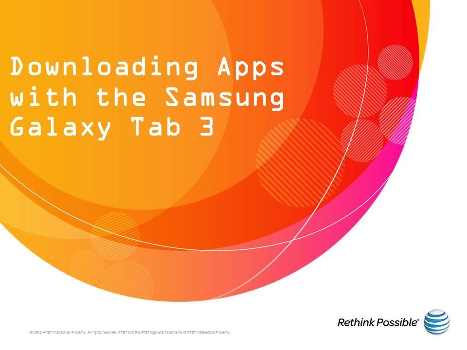 How to download apps to samsung galaxy tablet