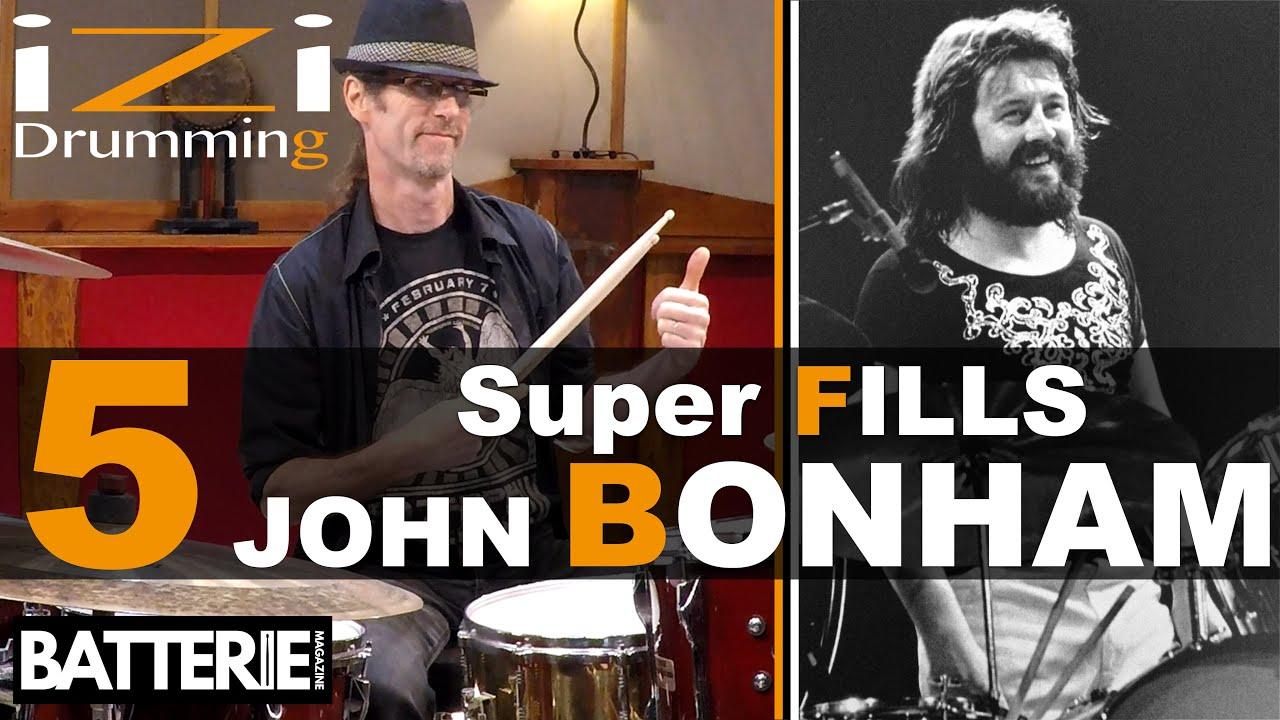 Download 5 super BREAKS de John BONHAM ◊ iZi Drumming ◊ Batterie Magazine 177 ◊ Cours de Batterie