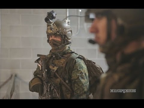 USMC Recon conduct live fire and raid mission (2nd Recon Bn)