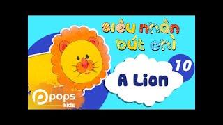 Hướng Dẫn Vẽ Con Sư Tử  - Siêu Nhân Bút Chì - Tập 10 - How to Draw A Lion