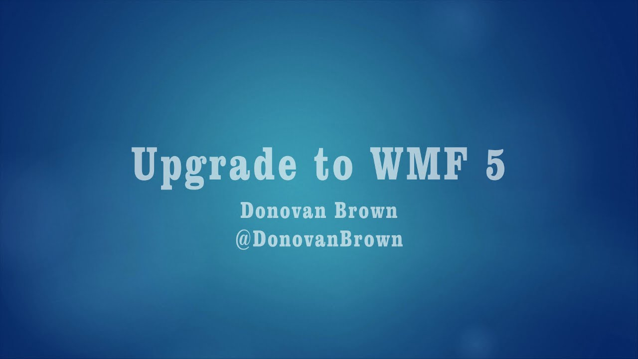 Upgrade to Windows Management Framework 5 preview - YouTube