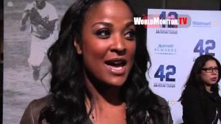 Muhammad Ali's daughter Leila Ali interviewed at 42 LA Film premiere