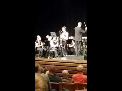 Pokemon Theme song, Bass Clarinet Solo, with Full Band