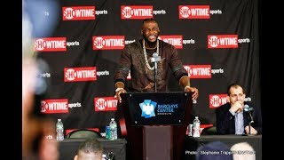 DEONTAY WILDER CONFIRMS REMATCH WITH TYSON FURY IS ON FOR MAY!! (No footage)