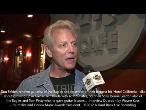 Don Felder (Eagles Guitarists) Talks about his Florida Roots -Giving Guitar Lesson to Tom Petty...