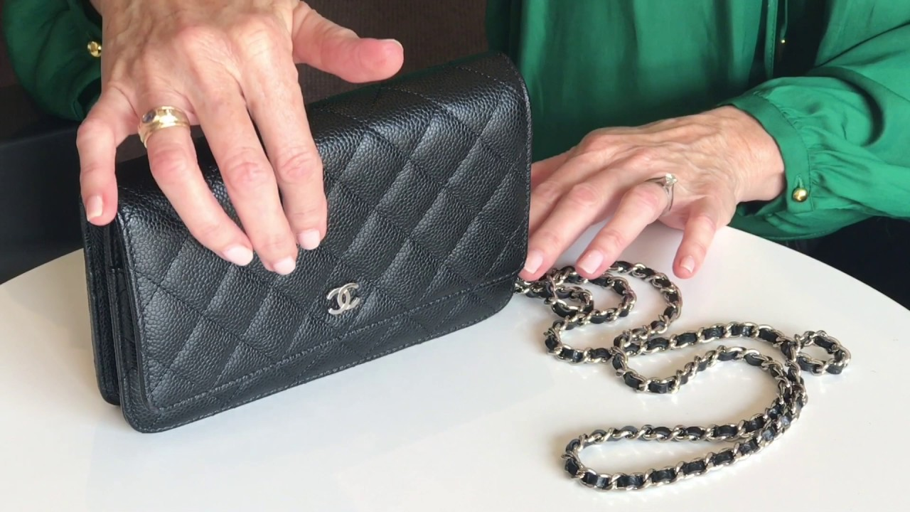 fdb8f9af7f7dd4 Chanel Wallet On Chain - Bag Review - YouTube