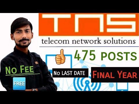 TNS Recruitment 2019 | 475 Posts | DIPLOMA | FINAL YEAR | NO LAST DATE | APPRENTICE