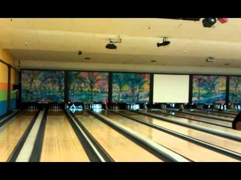 Bowling Trick Shot/ My Best Strike Ever!!! @ Jewel City Bowl
