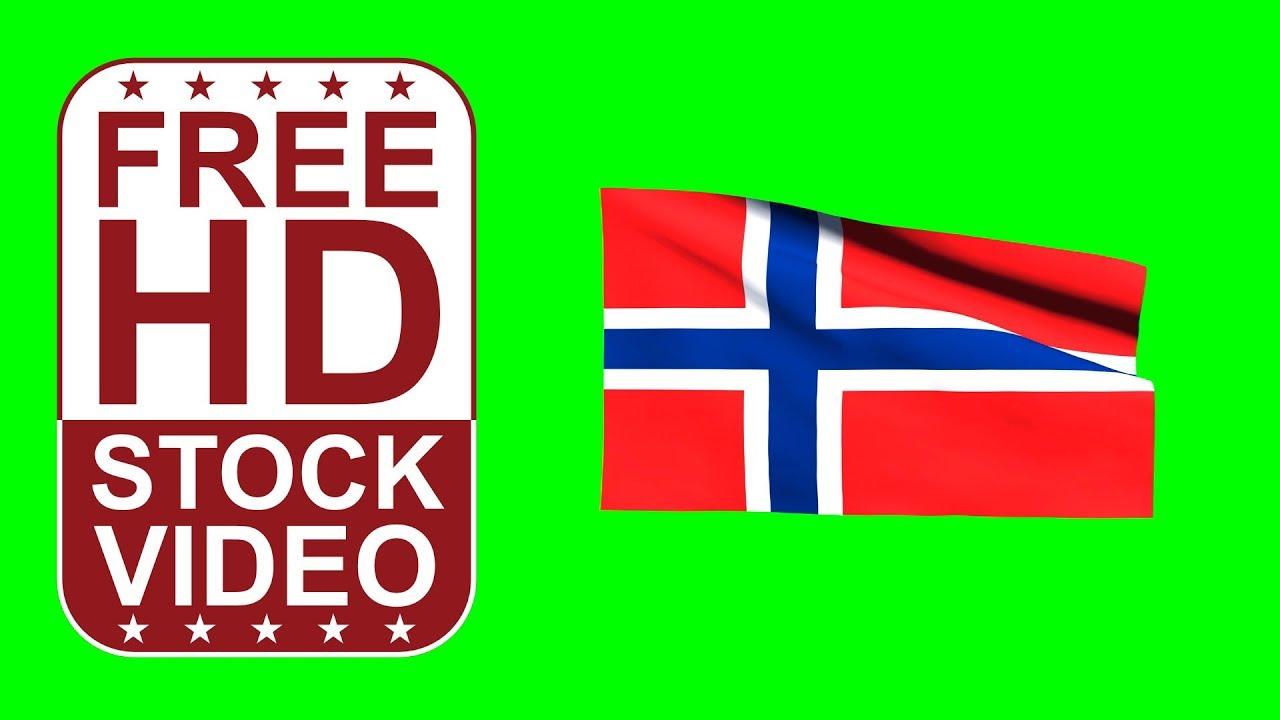 free hd video backgrounds u2013norway flag waving on green screen u2013 3d