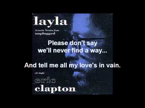 Eric Clapton - Layla (MTV Unplugged Acoustic Version)(1992)