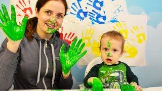 Изучаем цвета красками learn colors Учим цвет Learn Color Обучение детей цвету краска видео для дети