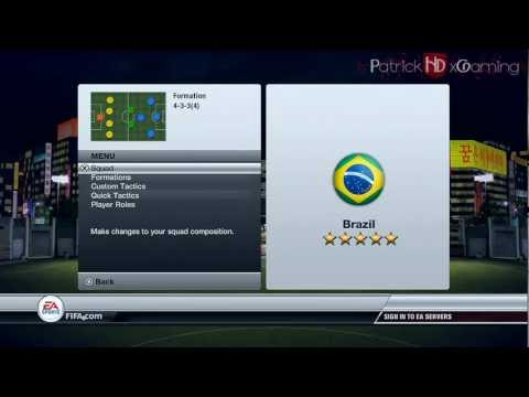 Fifa 12 | How to play with: Brazil | by PatrickHDxGaming | HD - YouTube