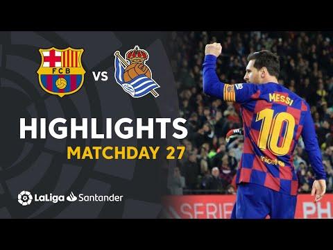 Highlights FC Barcelona vs Real Sociedad (1-0)