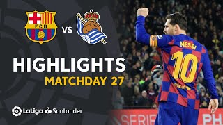 Highlights FC Barcelona vs Real Sociedad (1-0)
