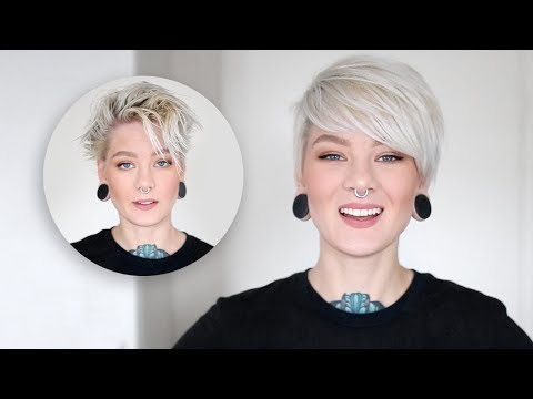 How To Style A Pixie Cut & Side Bangs In 3 Easy Steps