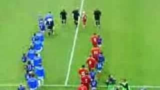 Vålerenga - Liverpool : Both team entrance