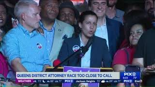Tiffany Cabán declares victory but Queens DA primary race too close to call Video