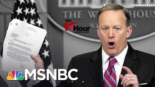 White House Denies Trying To Stop Key Testimony In Russia Probe | The 11th Hour | MSNBC
