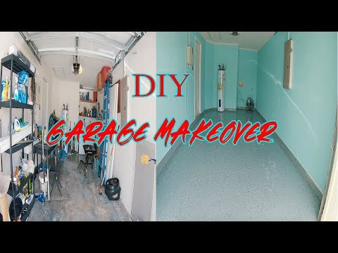 GARAGE MAKEOVER | PAINTING WALLS AND EPOXY FLOOR