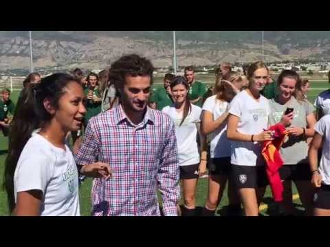 Real Salt Lake star Kyle Beckerman at Utah Valley University