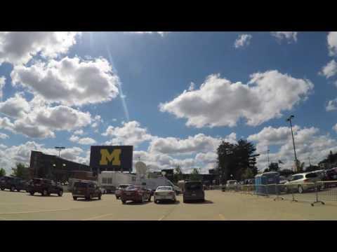 Michigan Stadium Flyover 2016-09-03 GoPro 2.7K