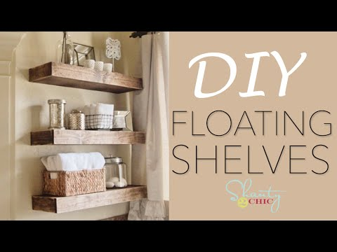 Easy DIY Floating Shelves - How To Make Wood Floating Shelves